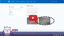 How to link your EON Visa Card to your PayPal Account?